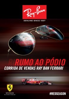Corrida de vendas Ray-Ban Ferrari